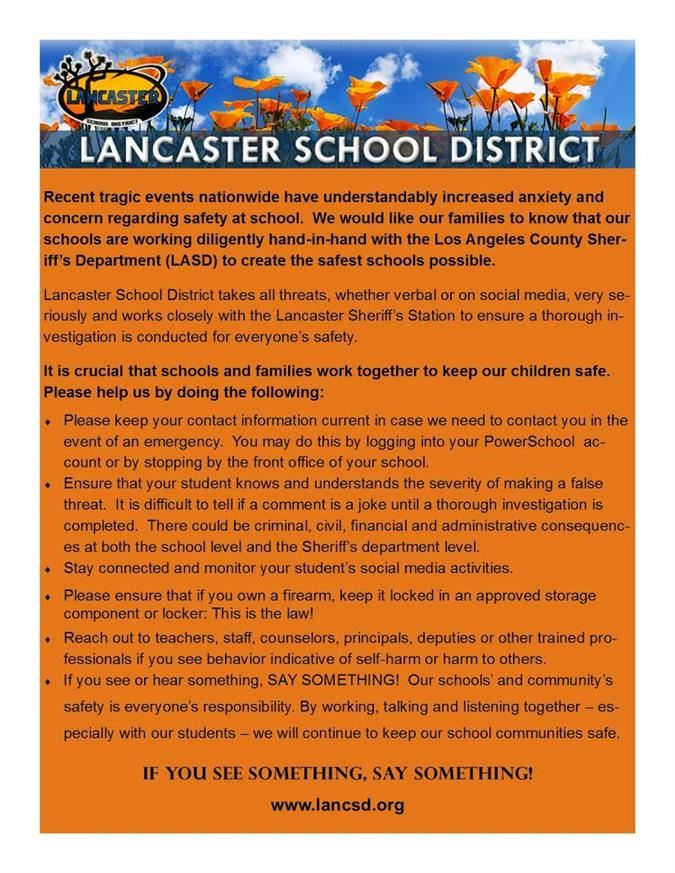Lancaster School District Homepage