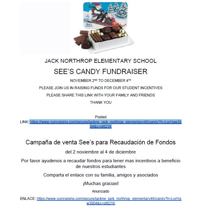 SEE'S CANDY FUNDRAISER CLICK HERE