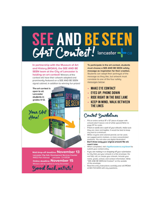 See and Be Seen Art Contest for Lancaster Students