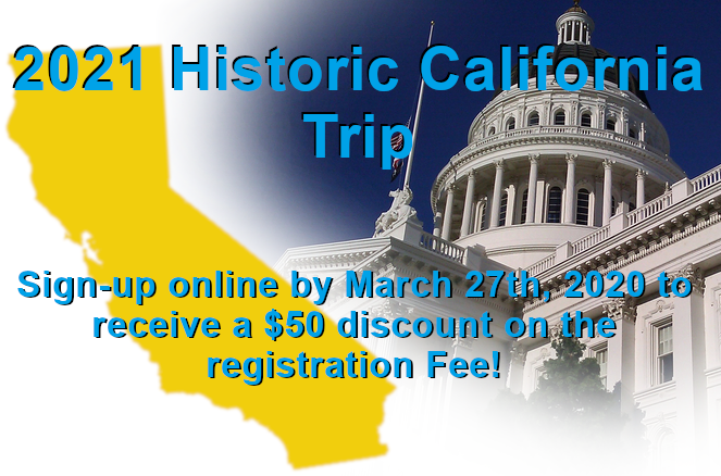 2021 Historic California Trip