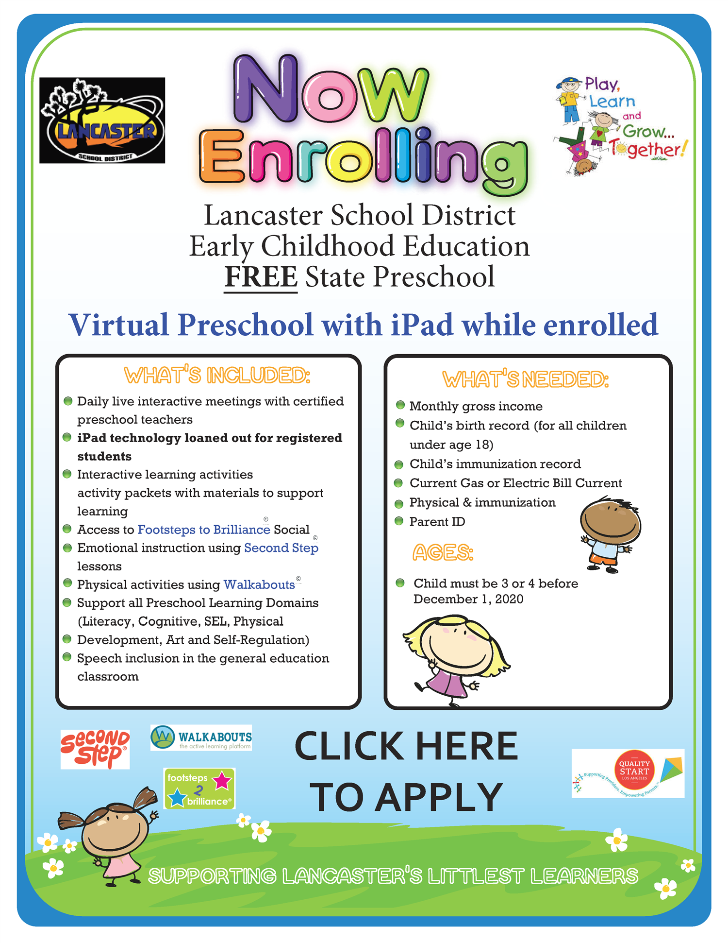 Preschool Now Enrolling for 2020-2021