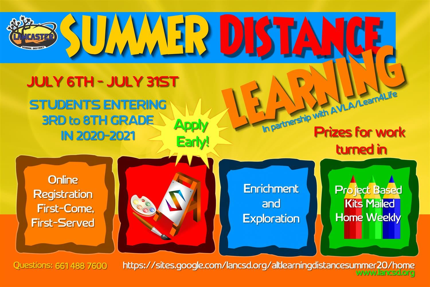 Summer Distance Learning July 6 - July 31