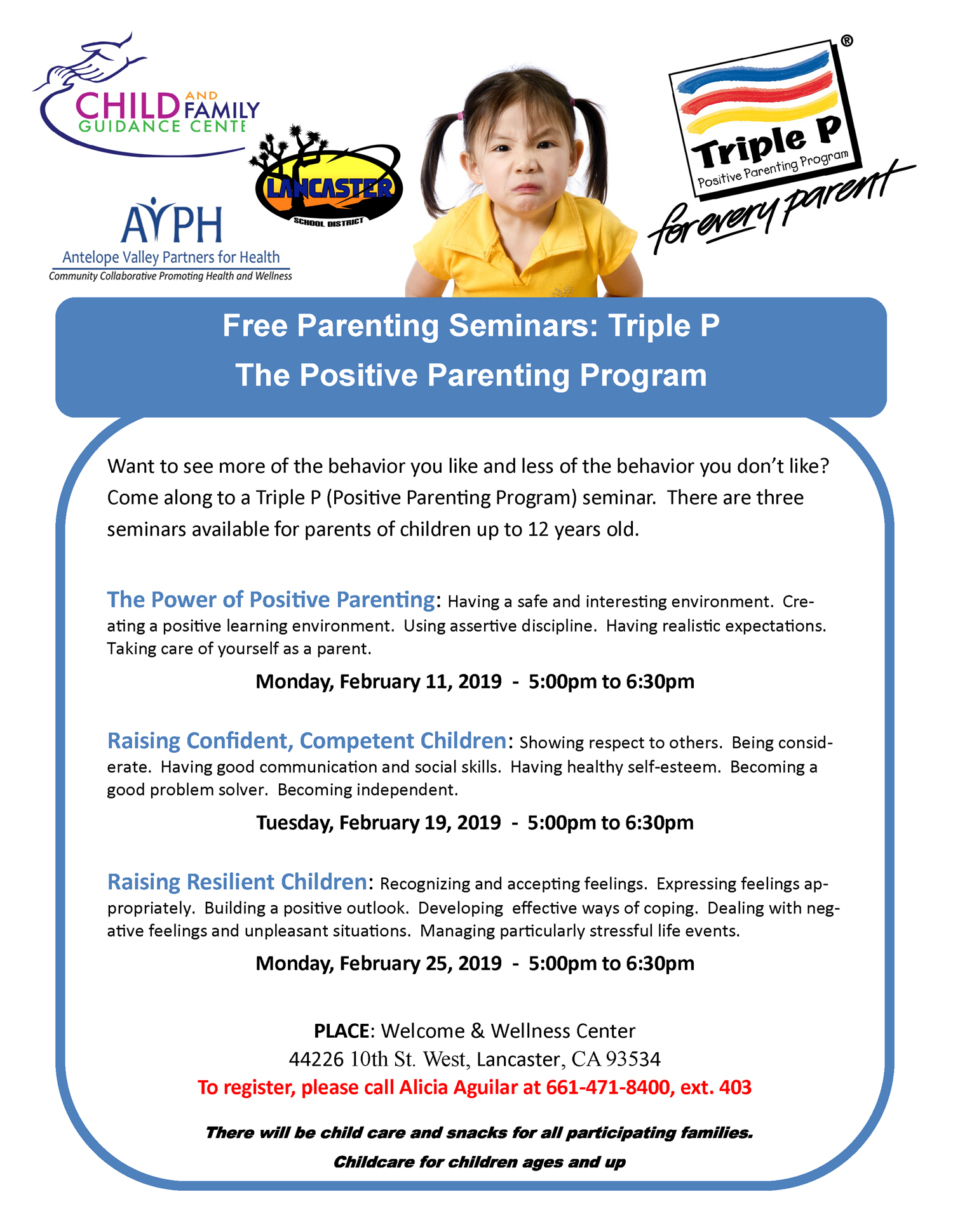 Free Parenting Seminars: Triple P The Positive Parent Program