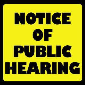 Public Hearing Notice - School Facilities Needs Analysis and Adoption of Alternative School Facility Fees